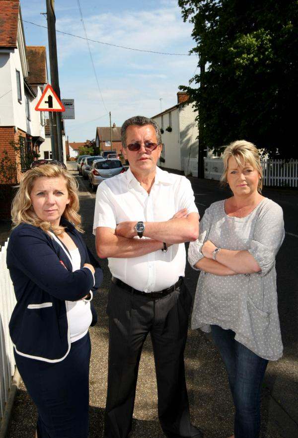 Residents Tracey Silcock,Kevin Knight and Nicky Middleton when they were protesting against the planned new houses