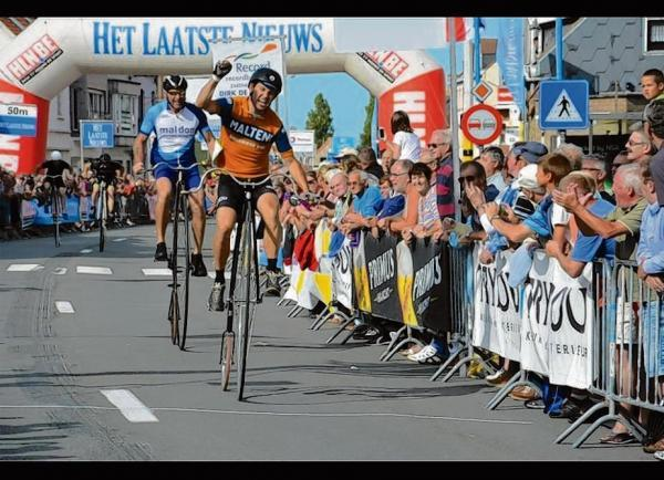 Burnham penny farthing rider pedals to a place on the podium