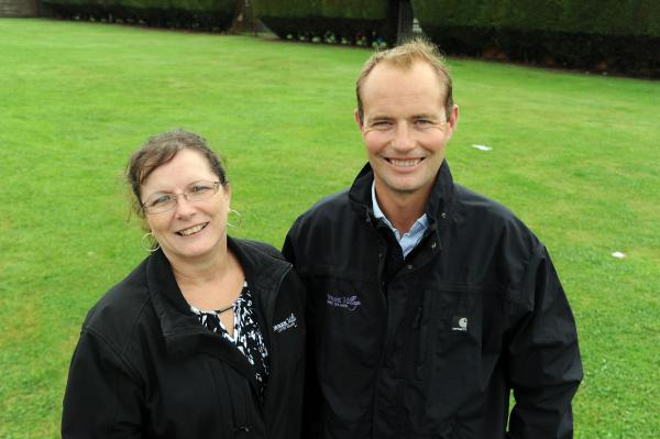 New plan – Kings Park director Michael Prideaux and office manager Belinda Briddock where the new club would go