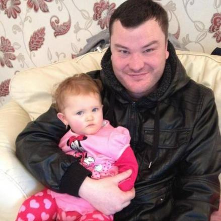 Nick Colyer with his niece Darcie