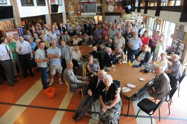 Helping out – more than 100 members of the Old Cops' Club gathered for their annual fundraiser