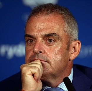 Paul McGinley, pictured, acknowledged it will be 'tough' the next time he sees Luke Donald