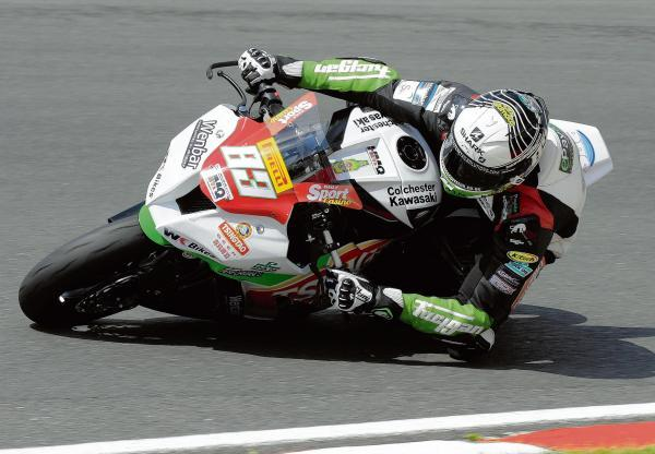 TOPPING THE PODIUM: Danny Buchan on his way to victory at Silverstone. Picture: Eric O'Brien