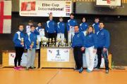 ALL SMILES: The Veras Academy Karate Association competition squad celebrate their success in Hamburg.