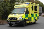 Man taken to hospital after electric shock
