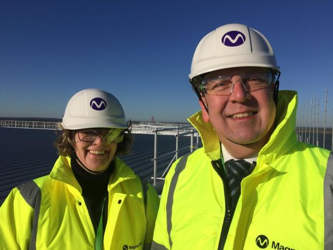 Maldon MP John Whittingdale with MEP Vicky Ford at Bradwell nuclear power plant