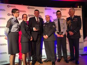Maldon and Burnham Standard: Burnham Air Cadets celebrating after being named squadron of the year