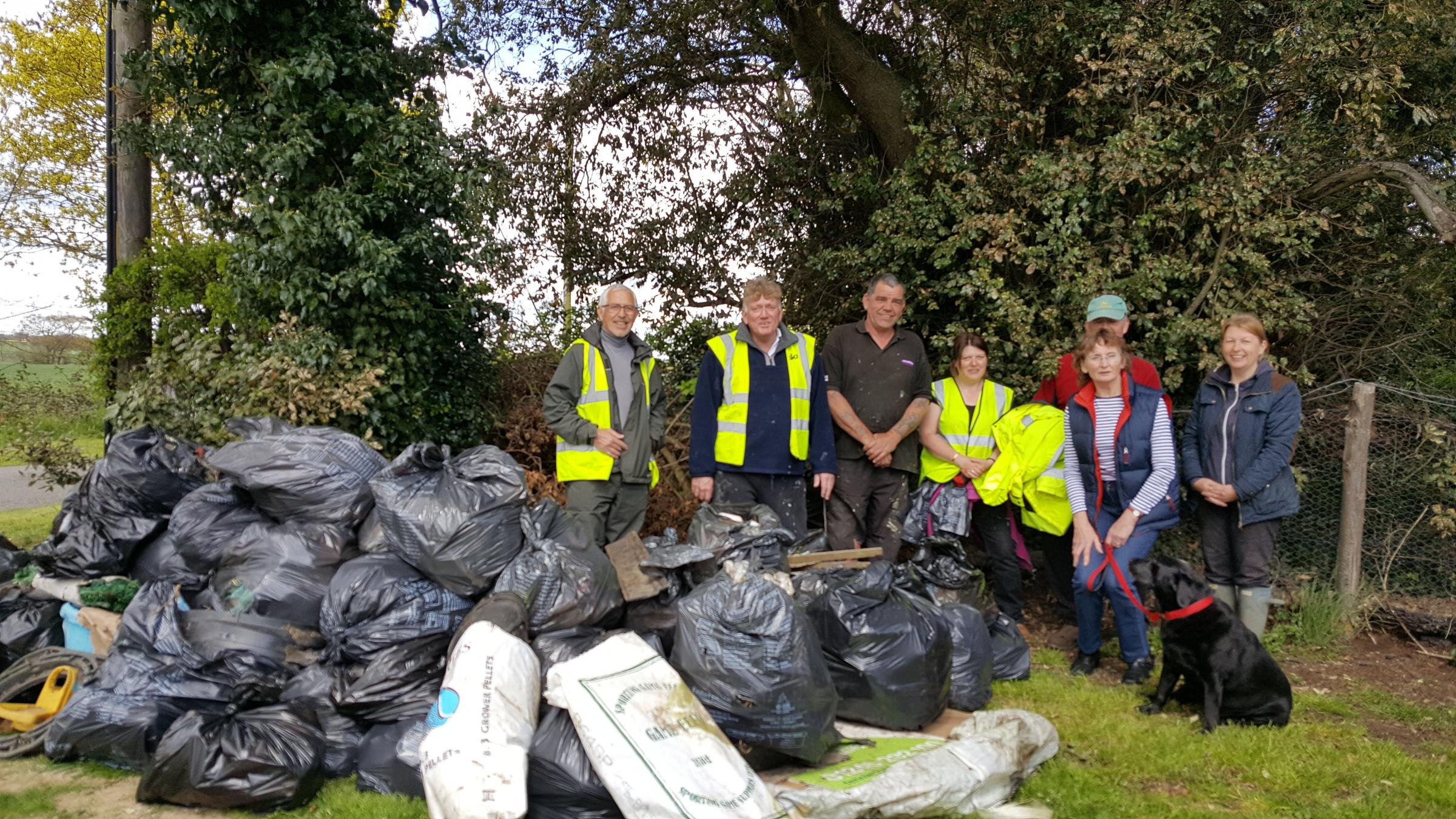 RUBBISH: A litter pick on the Dengie collected more than 50 bags of rubbish