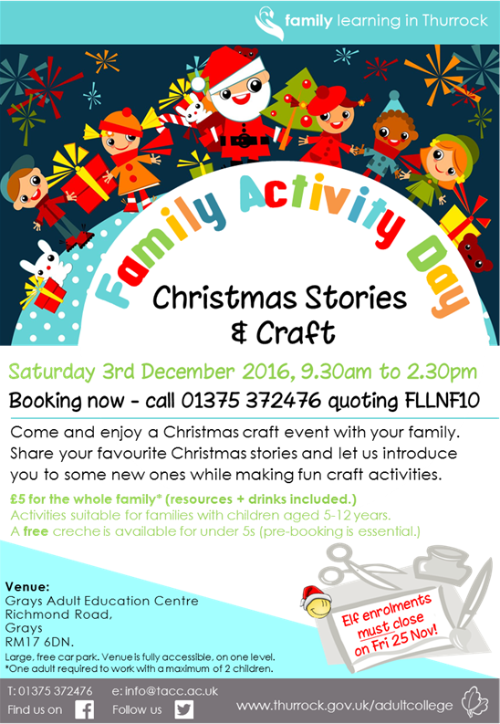 Family Activity Day: Christmas stories & crafts