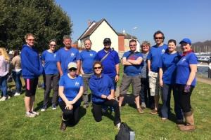 Dedicated - the Maldon Gig Rowing Club members who competed in the Tony Adams Challenge Cup