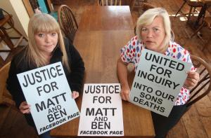 Maldon and Burnham Standard: Melanie Leahy and Lisa Morris whose son's Matthew Leahy and Ben Morris died at the Linden Centre…
