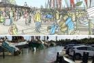 The dropped Hythe Quay market plans and how the quay flooded earlier this month