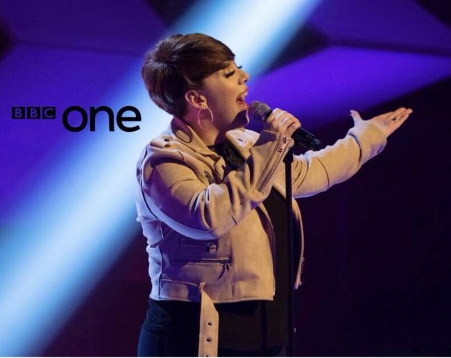 SINGER: Natalie Lomax singing for BBC One's