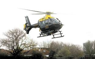 Police helicopter assists officers in the early hours of this morning