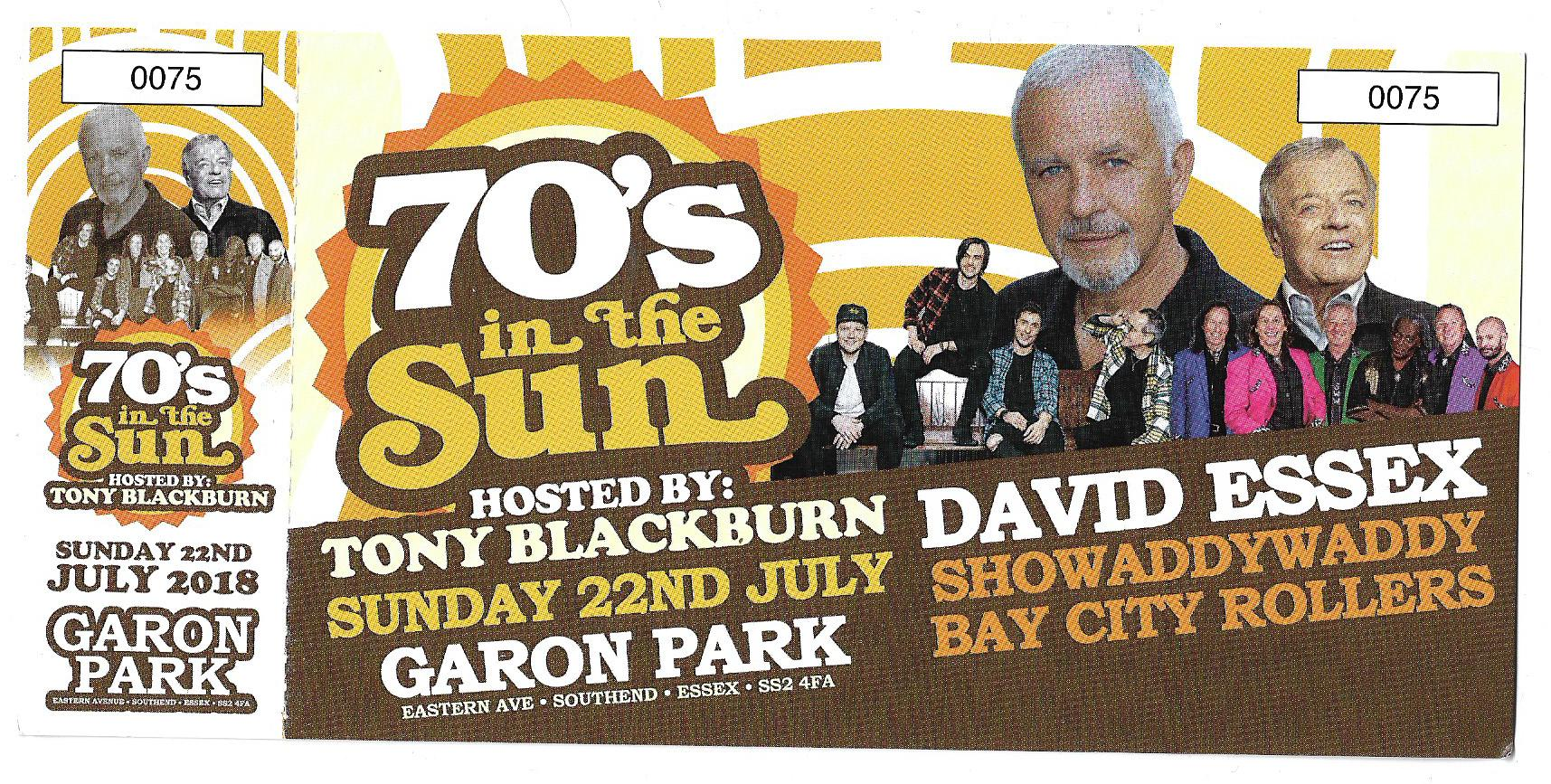 70,s in the sun charity event tickits for sale
