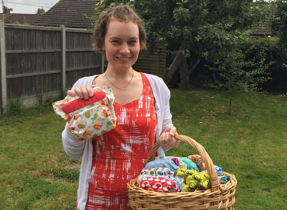 CAMPAIGN: Emily Mach with one of the cloth nappies she would like people to use