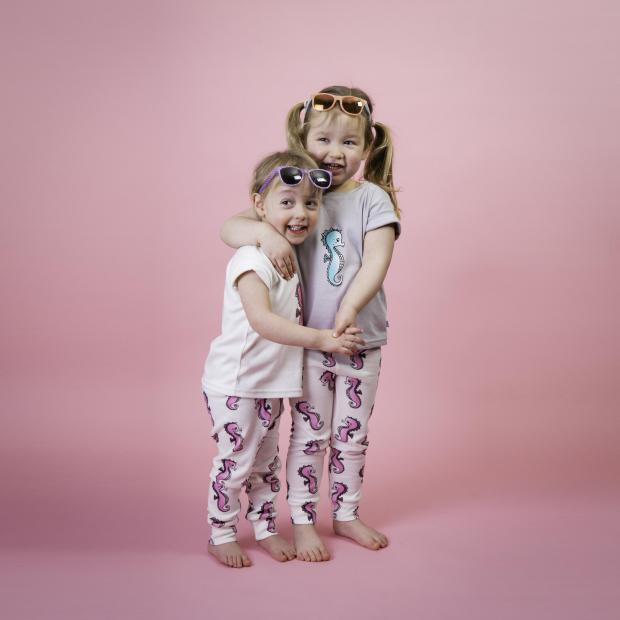 Maldon and Burnham Standard: Family - Emma's daughter Immy and Sarah's little girl Olivia model some of their designs