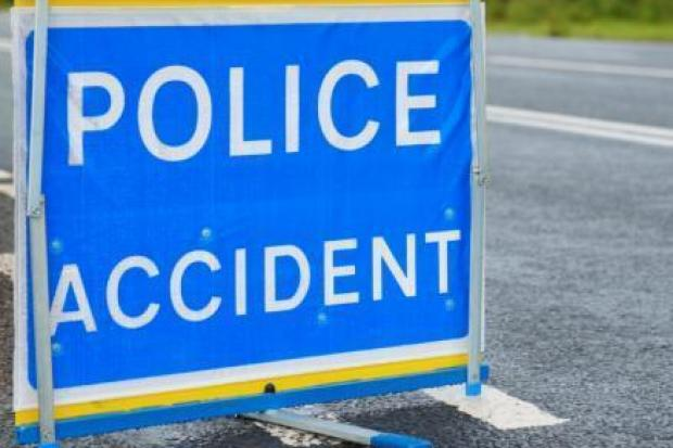 Fire crews free casualty from car after crash