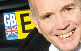 Maldon and Burnham Standard: Proud to be British - MP Bob Spink with his Union Flag licence plate