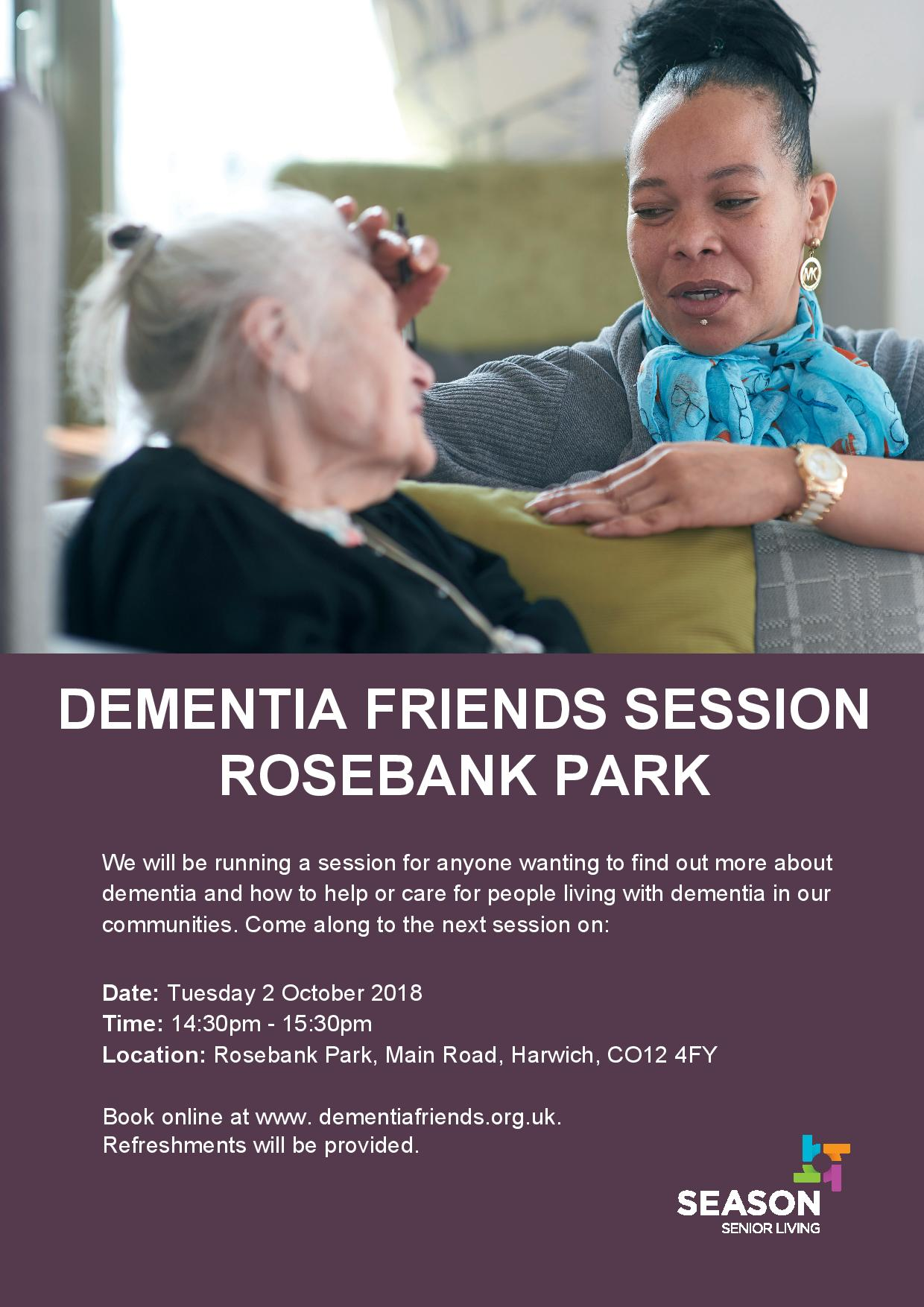 DEMENTIA FRIENDS SESSION ROSEBANK PARK