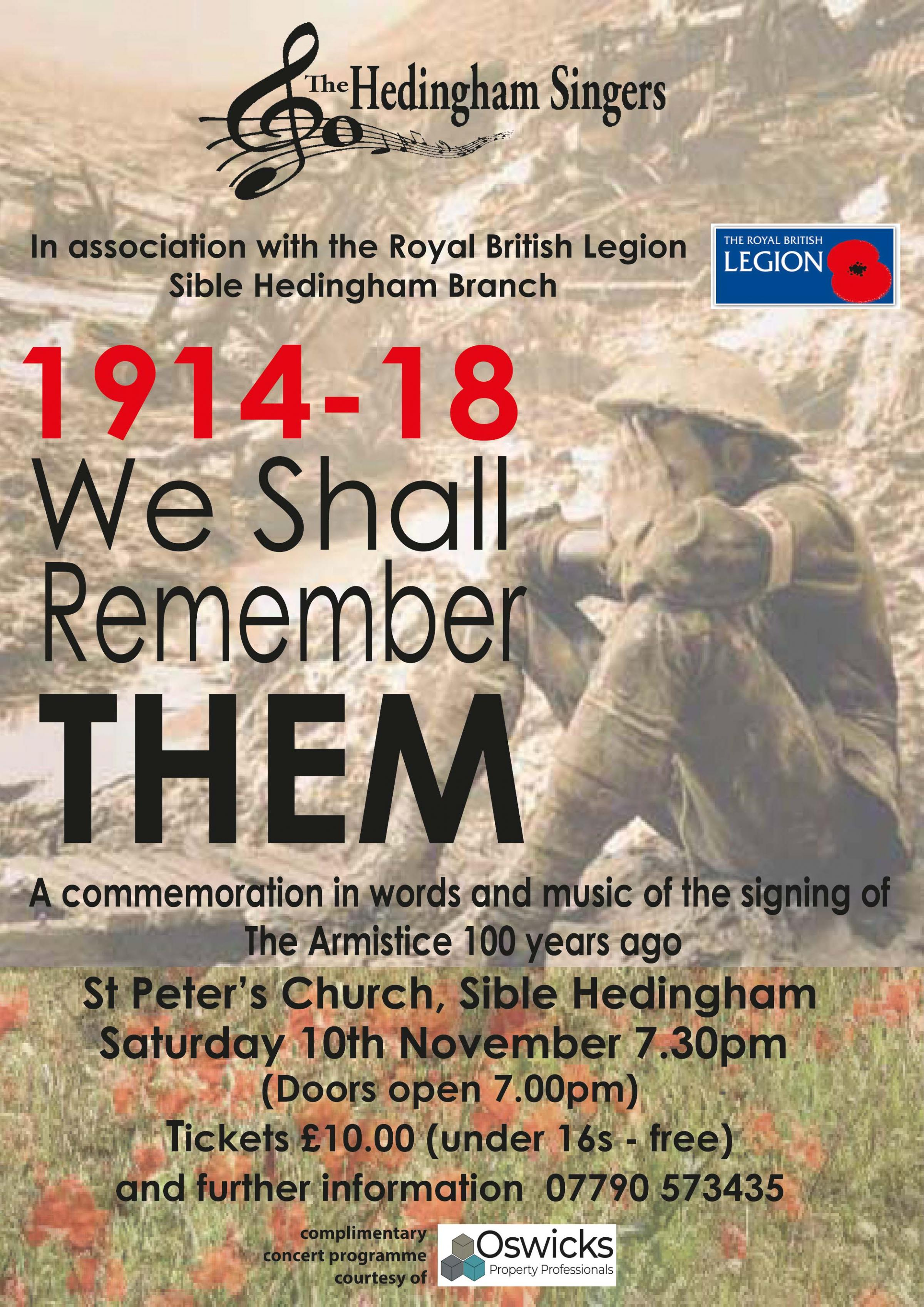 1914 -1918 WE WILL REMEMBER THEM