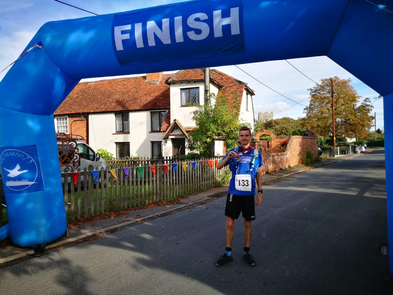 FIRST PLACE: Tim Ballard won the Saltmarsh75 at the weekend, finishing in 11 hours nine minutes