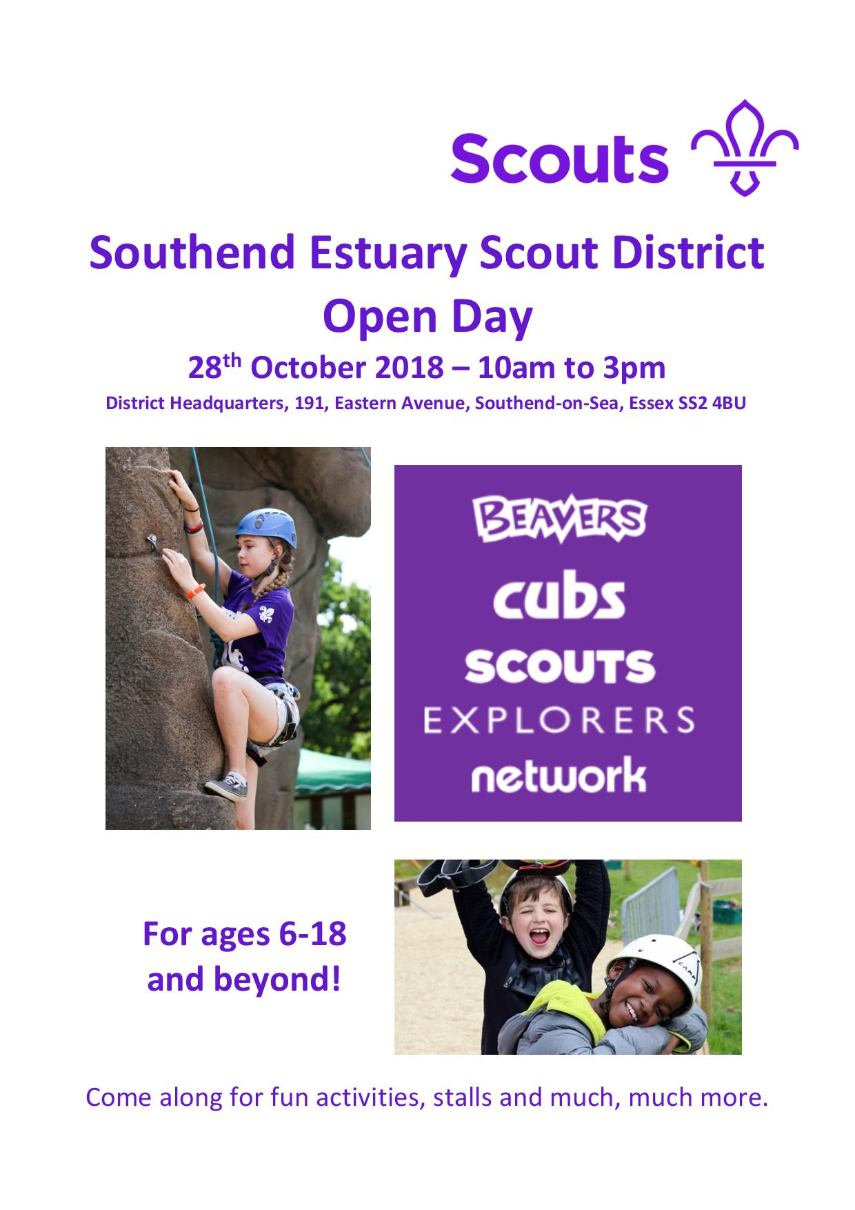 Southend Estuary District Scout Open Day