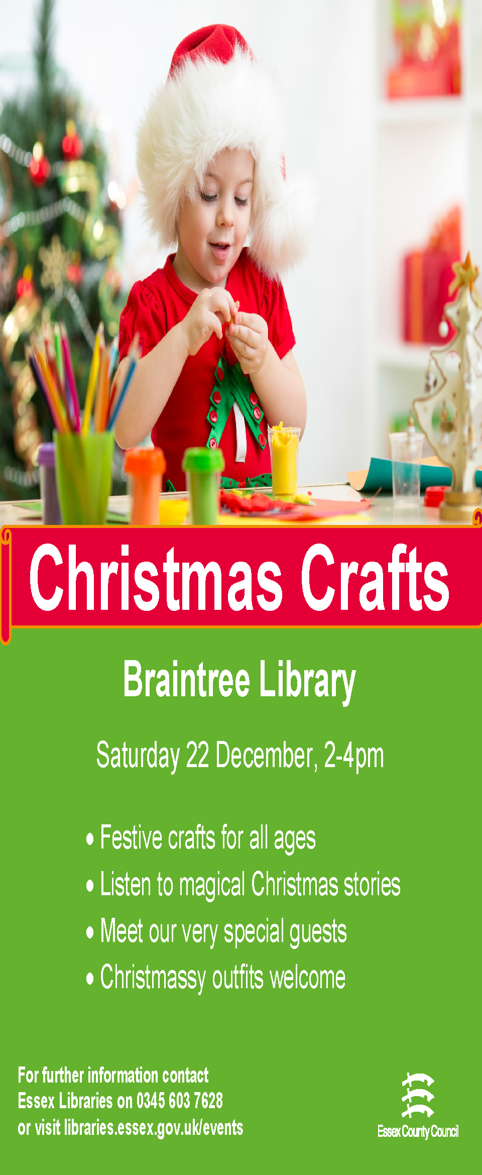 Christmas Crafts at Braintree Library