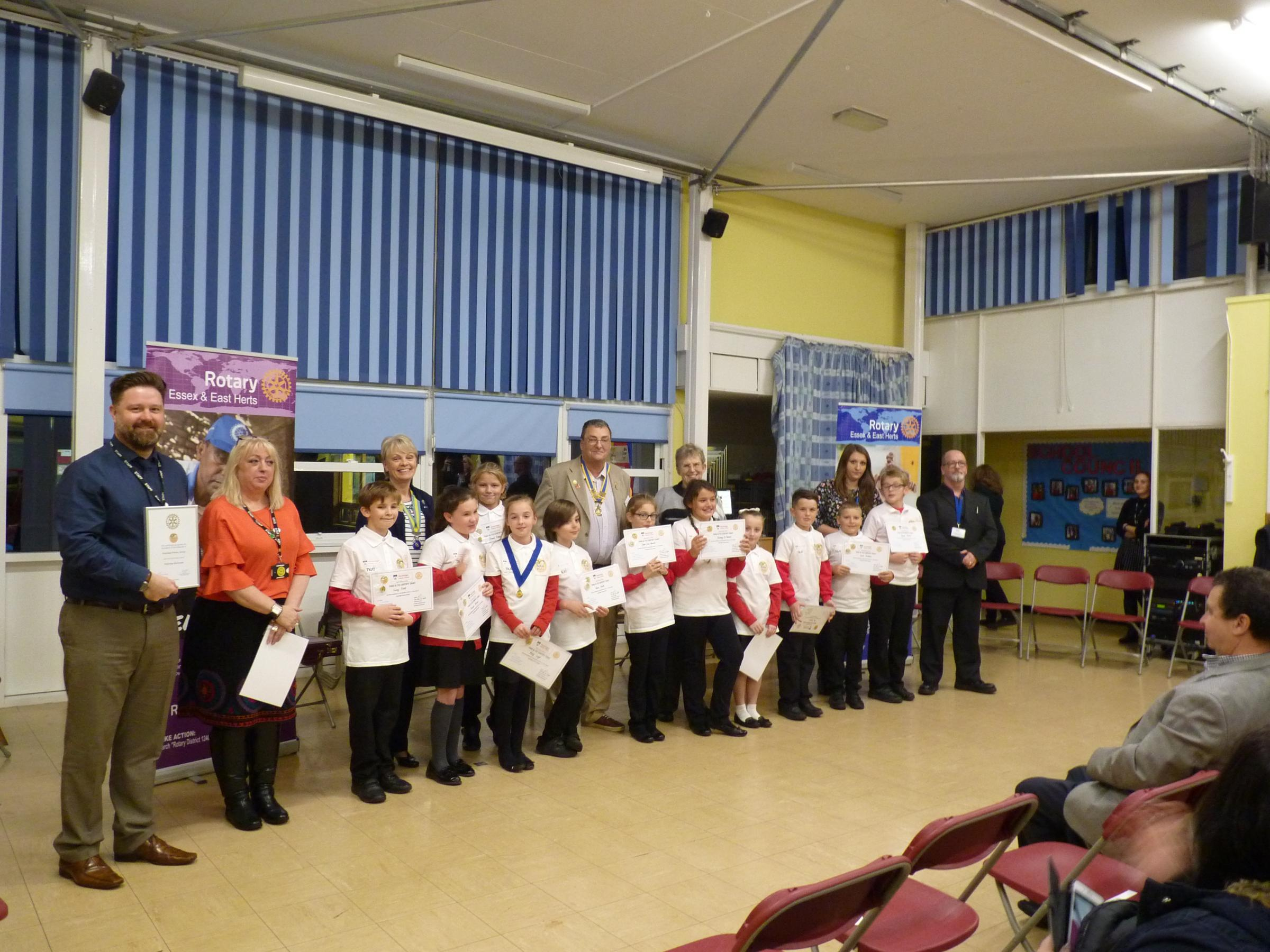 The Rotary Club of Heybridge Blackwater launched its new Rotakids group at Heybridge Primary School