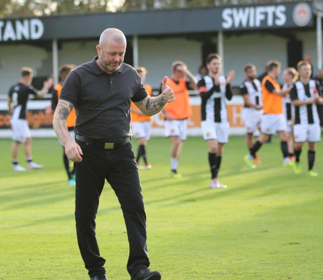 THUMBS UP - Julian Dicks was pleased to see Heybridge Swifts pick up back-to-back wins