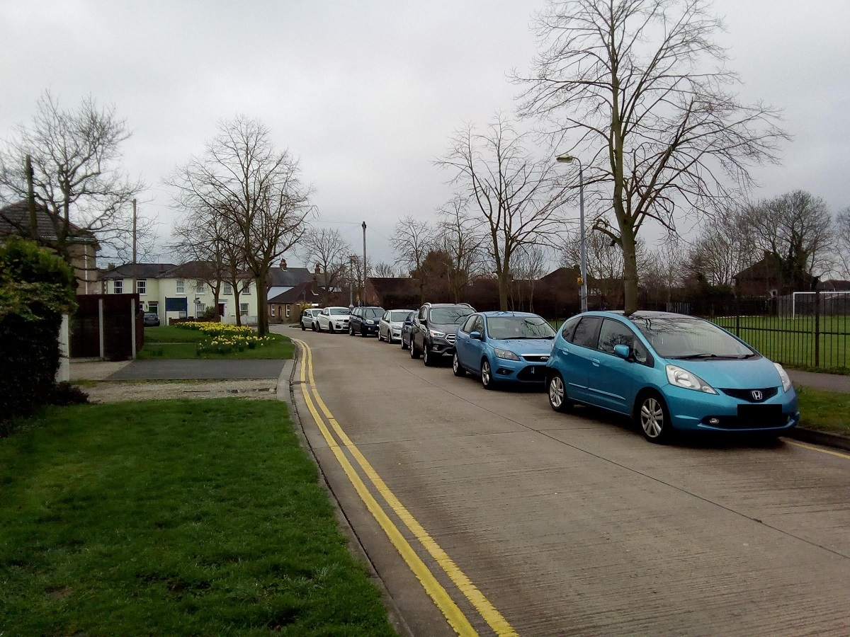 ROAD ROW: Cars can currently park on one side of Princes Road, Maldon, at night and on weekends