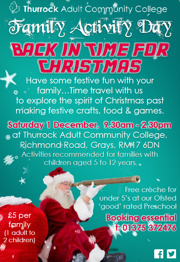 Family Activity Day: Back in Time for Christmas
