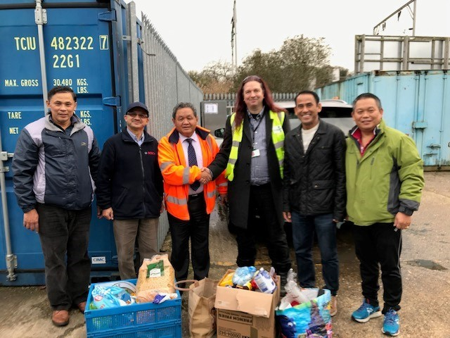 Colchester Nepalese Society made a large donation to Colchester Foodbank