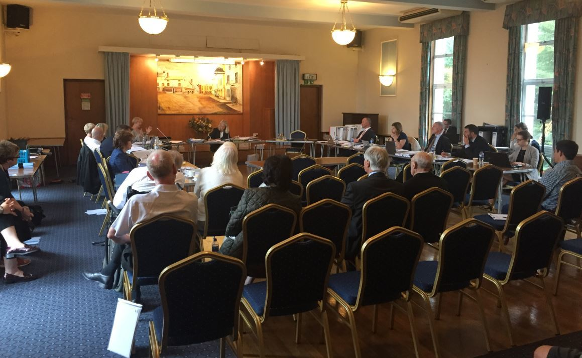 Planning inquiry: The meeting which took place in June last year