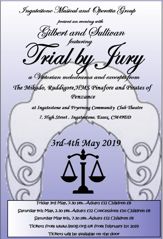 An Evening with Gilbert & Sullivan featuring Trial By Jury!