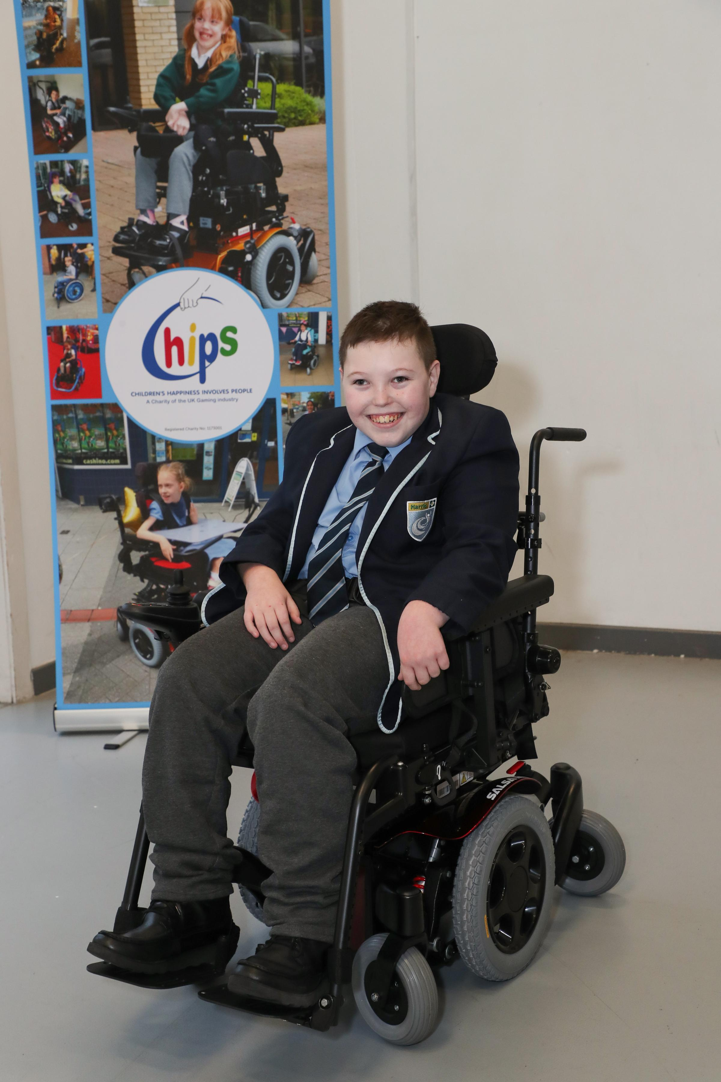 Grays 14-year-old presented with powered-wheelchair to boost school and home life