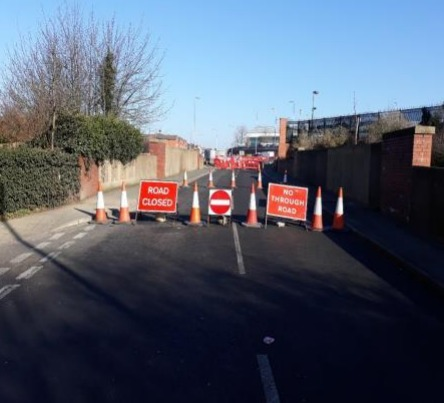 Closed - Ipswich Road in Colchester