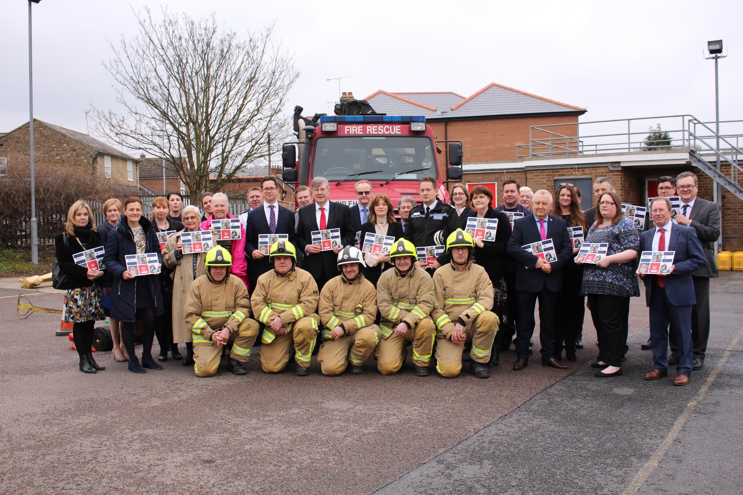 Launch - the new Fire and Rescue Plan has been launched by police, fire and crime commissioner Roger Hirst
