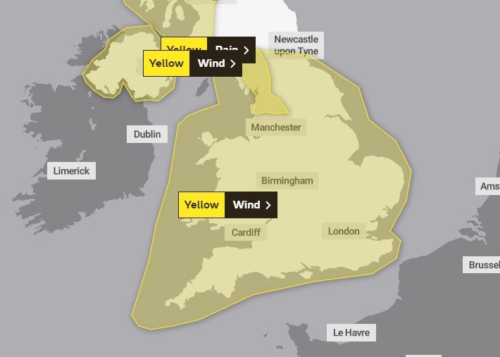 Yellow weather waning for Tuesday and Wednesday