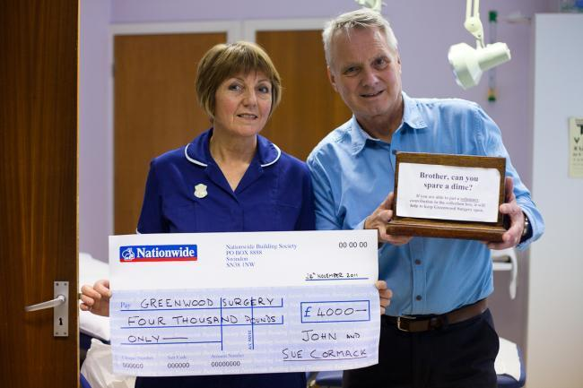 HAPPY RETIREMENT: Dr John Cormack and his wife Sue are leaving the Greenwood Surgery after practicing in South Woodham Ferrers for around 40 years