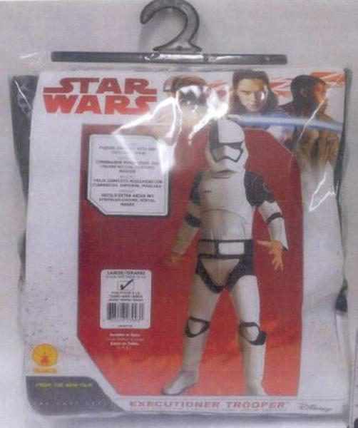Stormtrooper outfit recalled