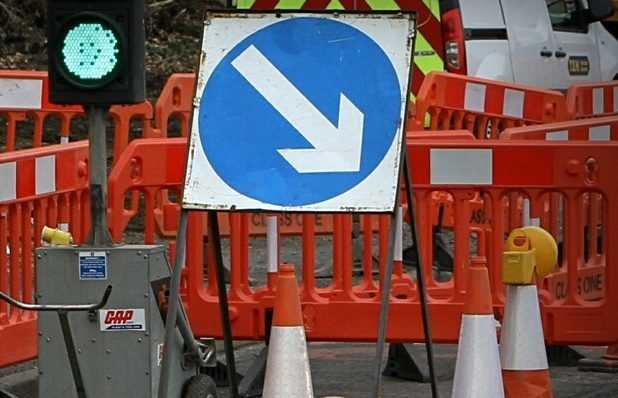 These roadworks could cause a