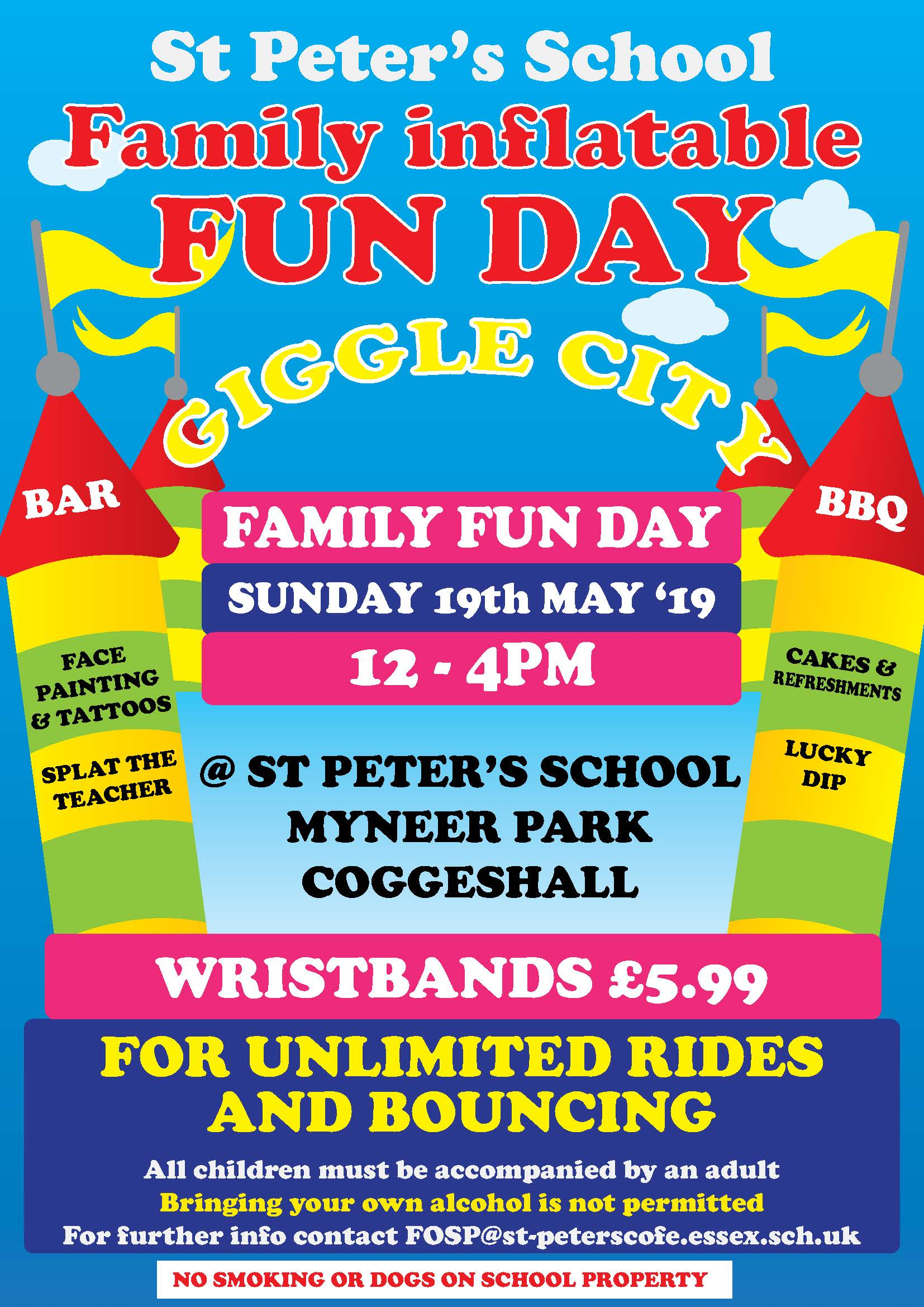St Peter's School Family Inflatable Fun Day