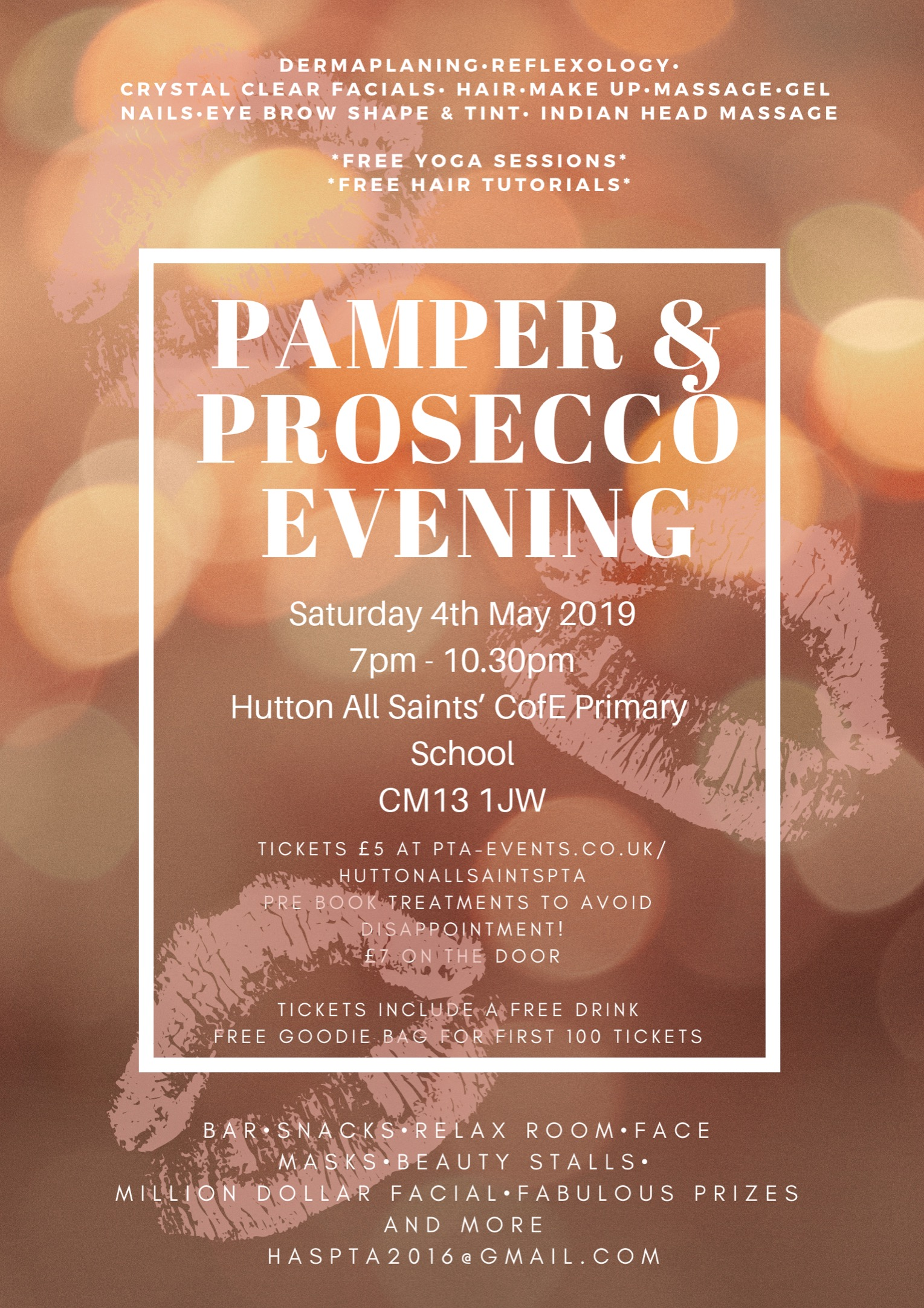 Pamper & Prosecco Evening