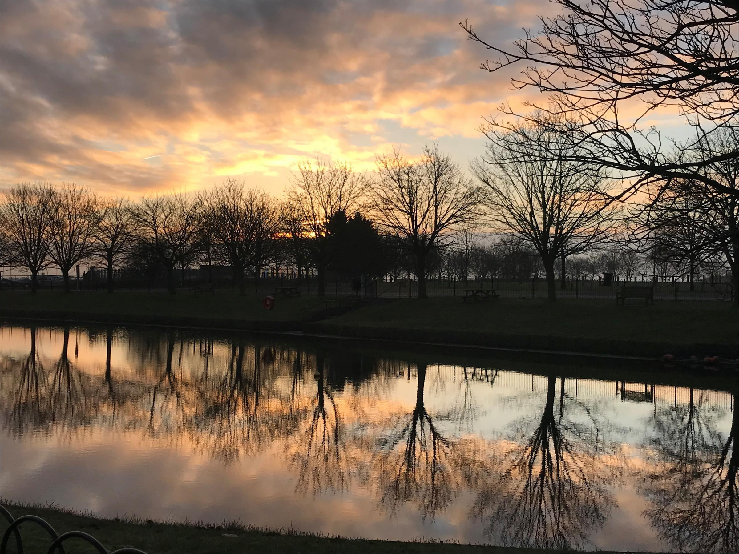 This photograph was taken on Thursday 3rd January in promenade park overlooking the boating lake at 8.30 am by Christine Geer 4 The Mallows Fambridge Road Maldon