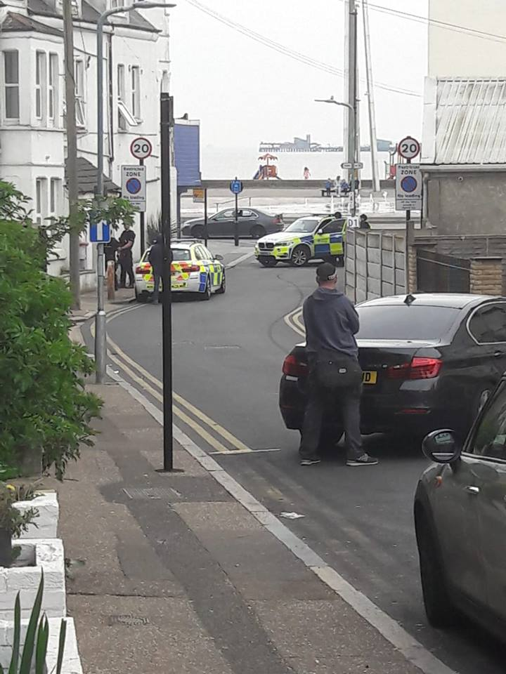 Drama - the police are at the scene. Picture: Trevor Greenfield