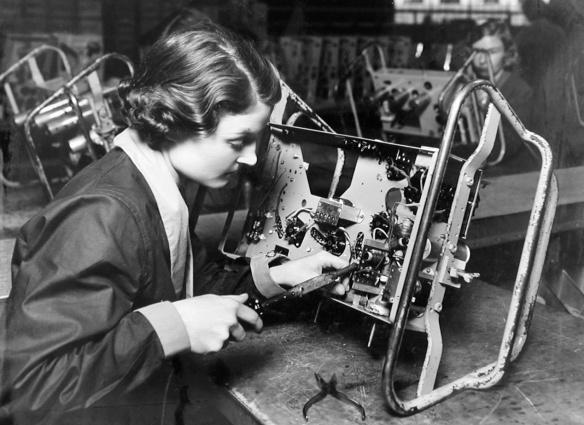 CHANGING ROLES: A female worker at the EKCO factory in Southend in the 1930sPicture: Courtesy of Southend Museums
