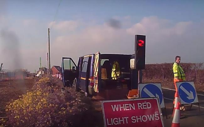 Sarah Vitric took his dashcam footage of the Fambridge Road closure
