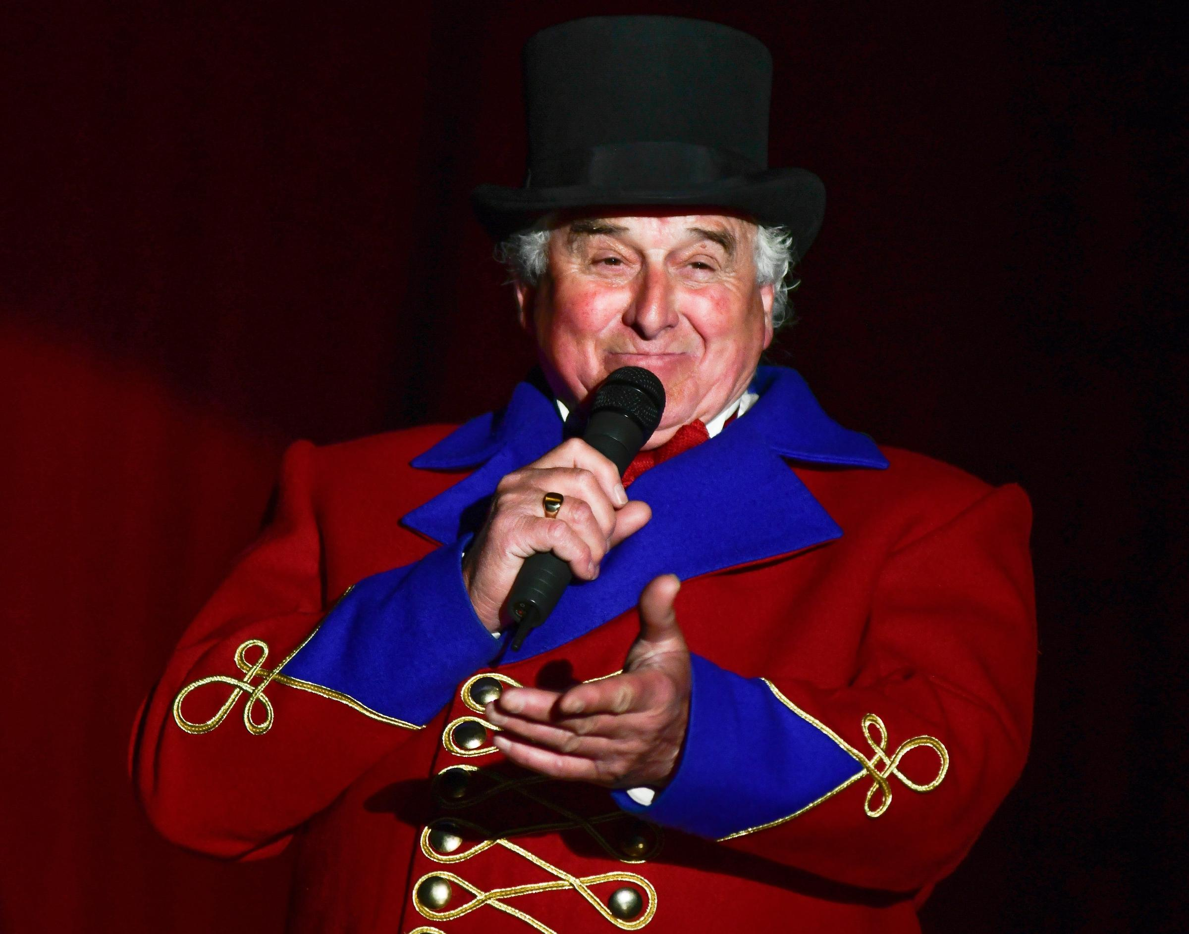 Ringmaster Ernest Santus welcomes friends old and new to his family's circus