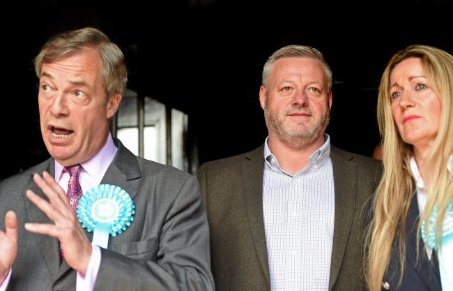 Let's get out - Nigel Farage and Mick Norcross at the Sugar Hut
